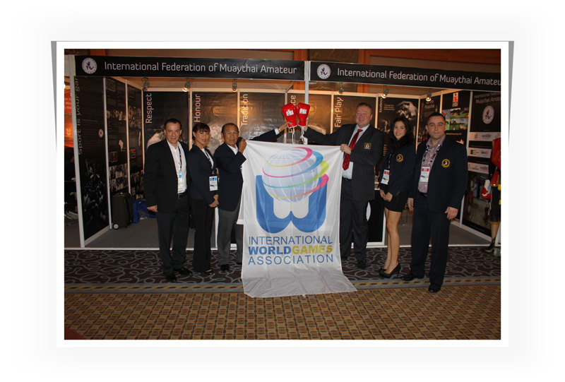 IWGA-Flag-Presented-to-Muaythai-Federation-President april2014